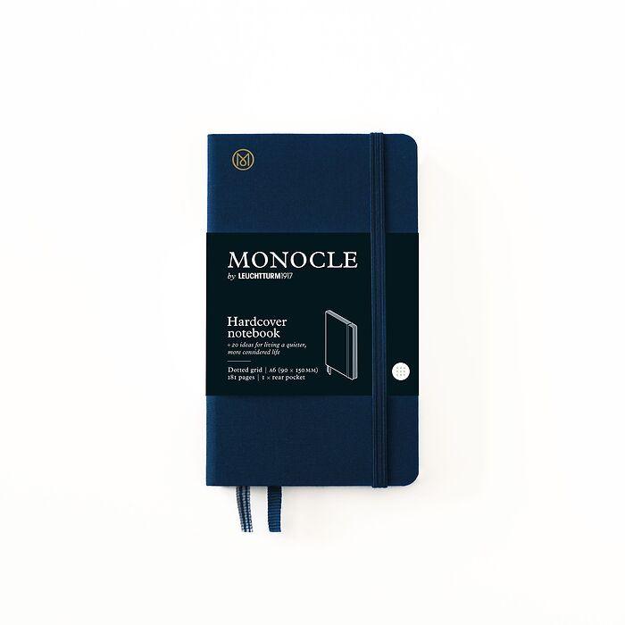Notizbuch A6 Monocle, Hardcover, 192 nummerierte Seiten, Navy, dotted