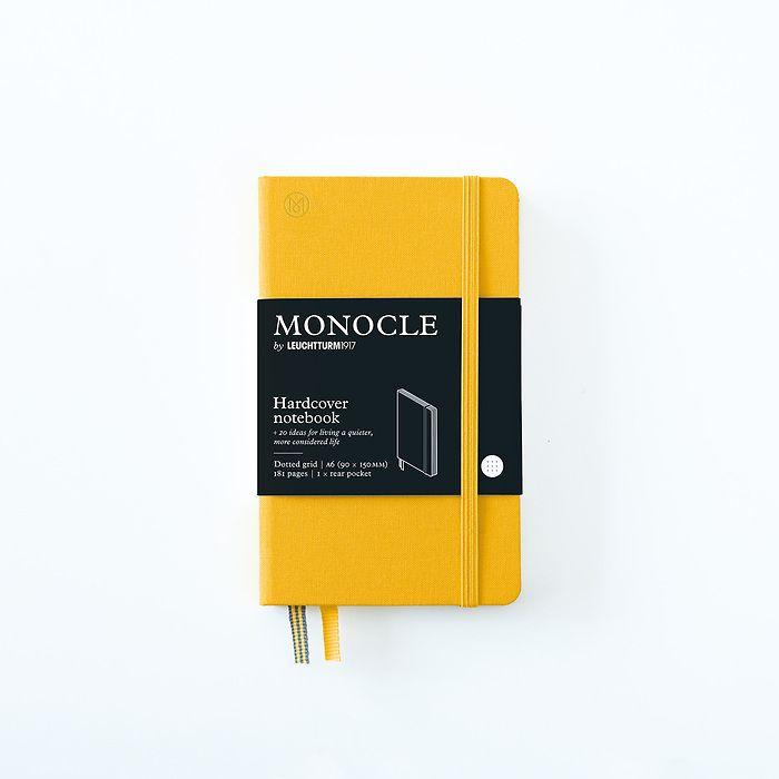 Notizbuch A6 Monocle, Hardcover, 192 nummerierte Seiten, Yellow, dotted