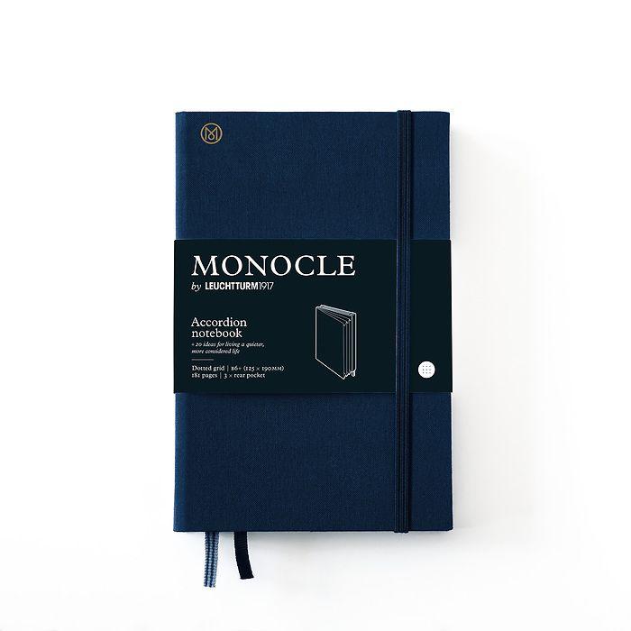 Monocle Wallet B6+, Hardcover, 192 nummerierte Seiten, Navy, dotted