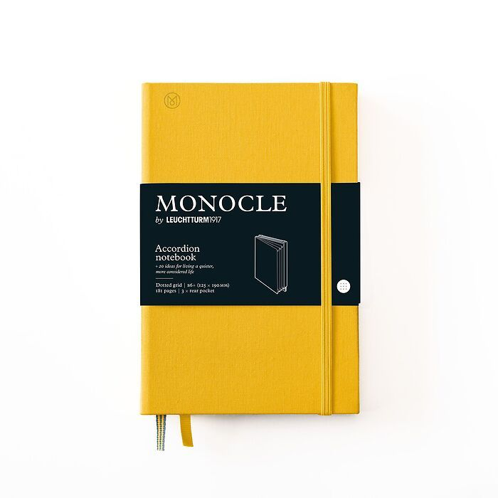 Monocle Wallet B6+, Hardcover, 192 nummerierte Seiten, Yellow, dotted