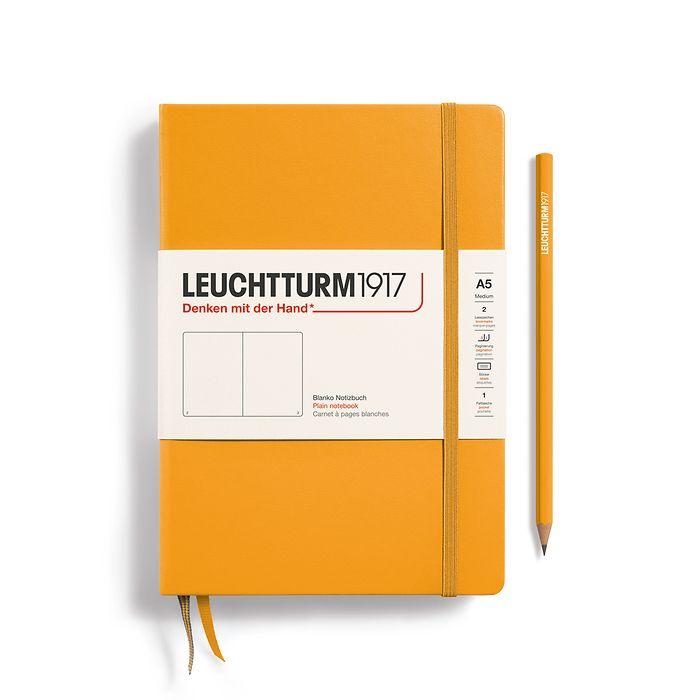 Notizbuch Medium (A5), Hardcover, 251 nummerierte Seiten, Rising Sun, blanko