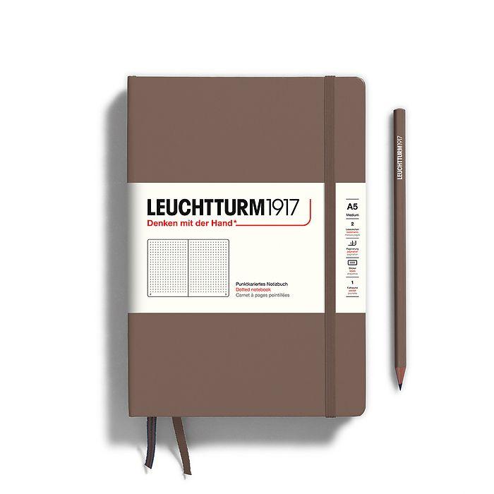 Notizbuch Medium (A5), Hardcover, 251 nummerierte Seiten, Warm Earth, dotted