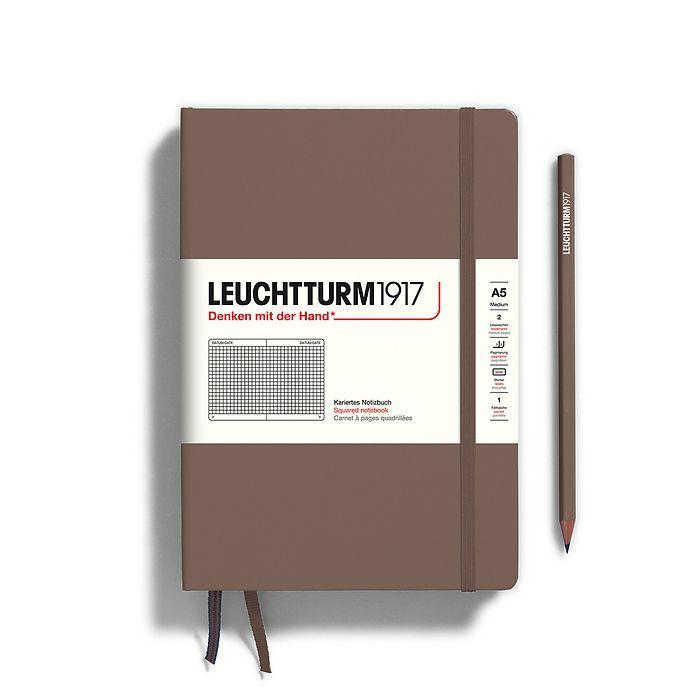 Notizbuch Medium (A5), Hardcover, 251 nummerierte Seiten, Warm Earth, kariert