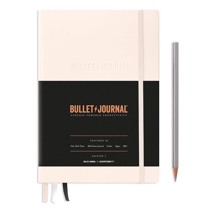 Bullet Journal Edition 2, Medium (A5), Hardcover, 206 nummerierte Seiten, Blush, dotted