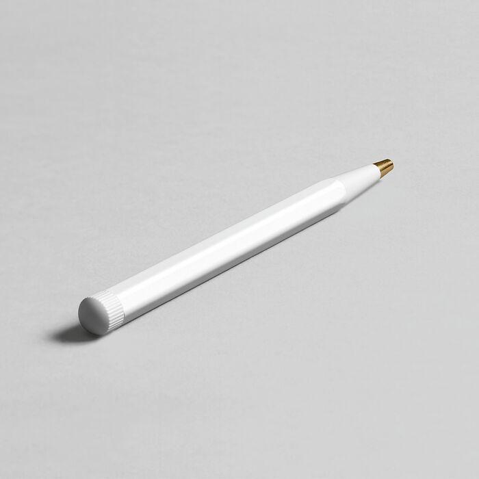 Drehgriffel Nr. 1, Weiß - Gelstift mit schwarzer Tinte