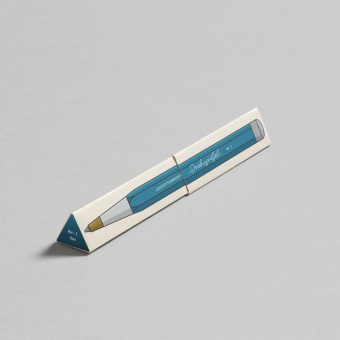 Drehgriffel Nr. 1, Nordic Blue - Gelstift mit schwarzer Tinte