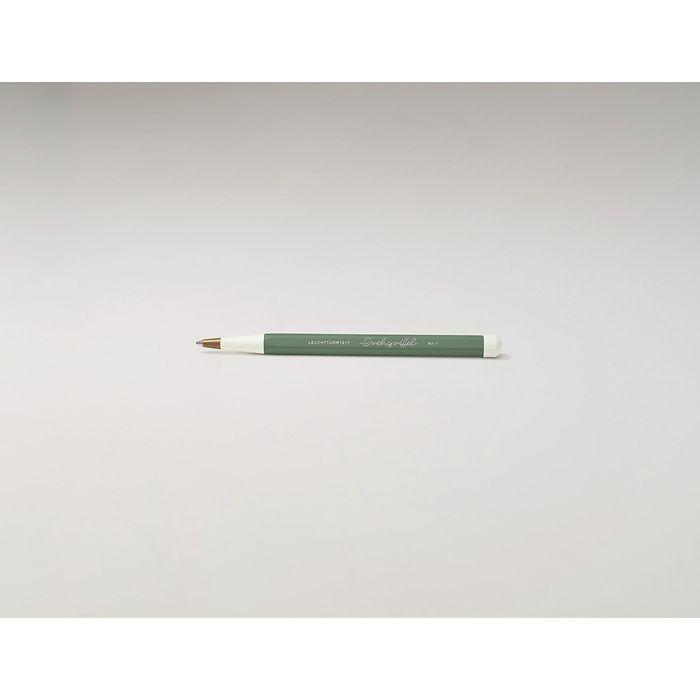 Drehgriffel Nr. 1, Olive - Gelstift mit schwarzer Tinte