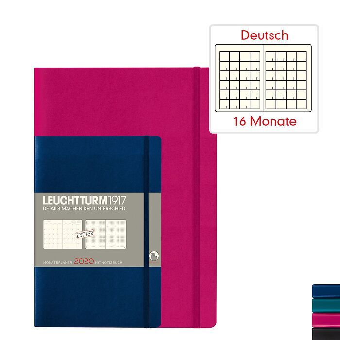 Monatsplaner & Notizbuch 2020 - Softcover - Deutsch