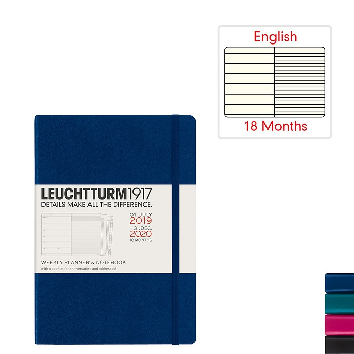 Wochenkalender & Notizbuch 2020 - 18 Monate - Englisch